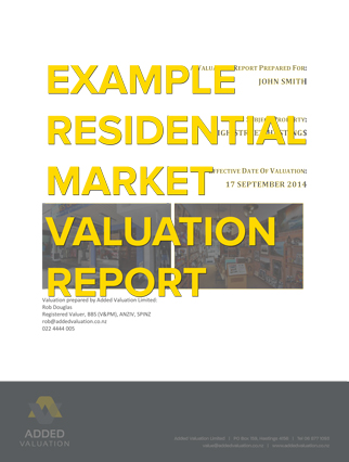 Residential Market Valuation  Added Valuation