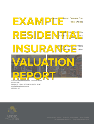 Residential Insurance Valuation  Added Valuation